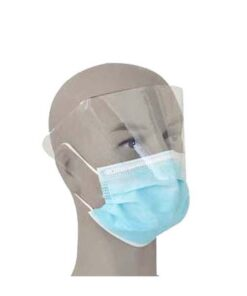 3 Ply Surgical Face Mask , Anti Fog Medical Face Shield Mask With Earloop / Tie On