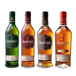 Glenfiddich Scotch Whisky 12,15,18 Years Old